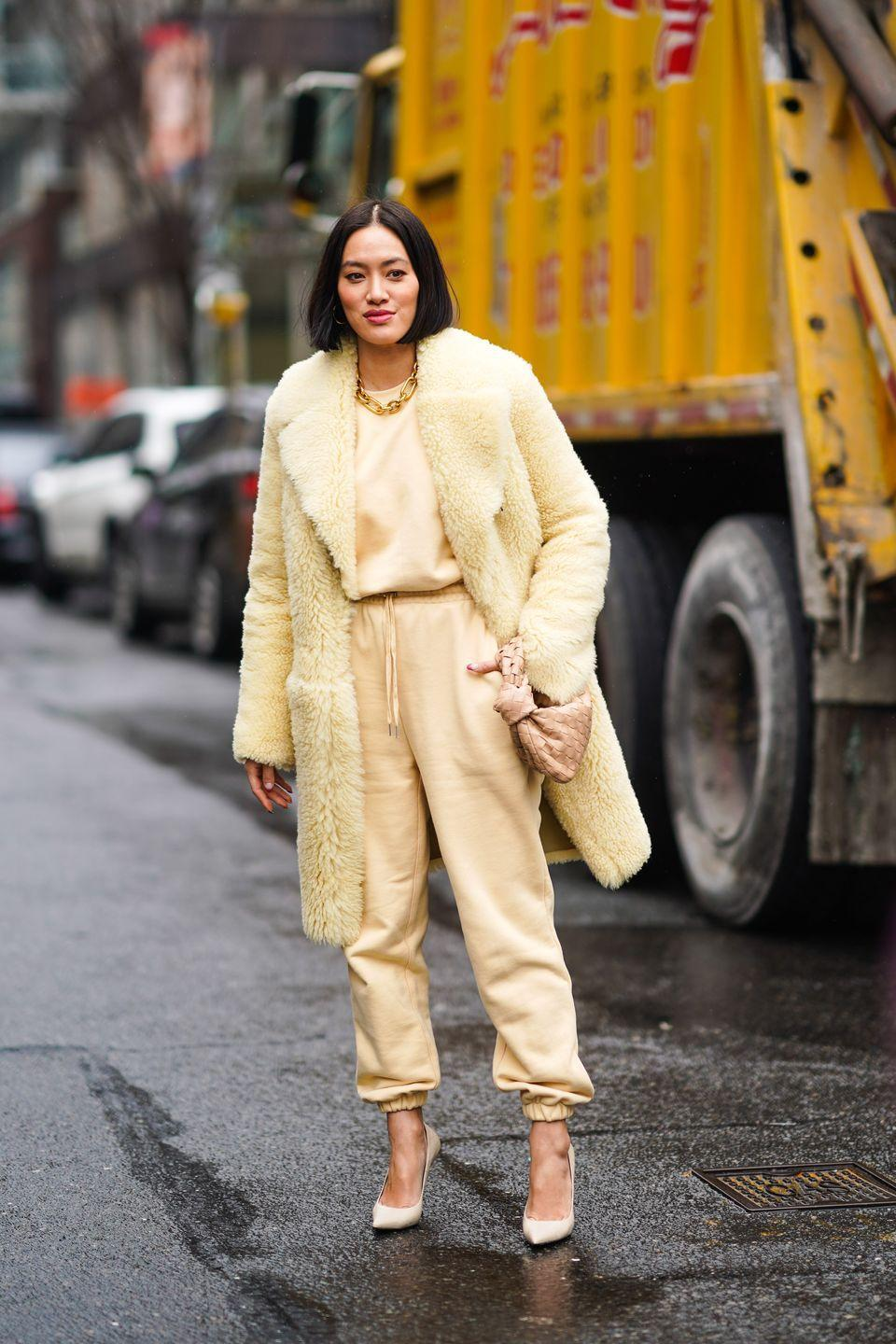 """<p>Butter, but make it fashion. For fall 2021, you'll be wearing this color from your outfit to <a href=""""http://www.seventeen.com/beauty/nails/g19864863/summer-nail-colors/"""" rel=""""nofollow noopener"""" target=""""_blank"""" data-ylk=""""slk:your nails"""" class=""""link rapid-noclick-resp"""">your nails</a> and beyond.<br><br></p>"""