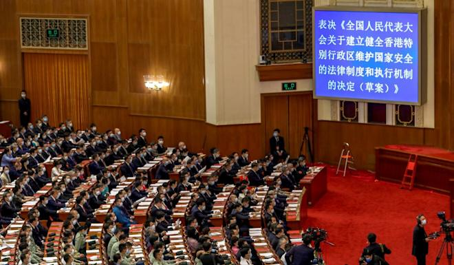 China's National People's Congress plans to promulgate a national security law for Hong Kong. Photo: Xinhua