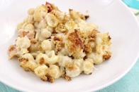 """<p>A crispy layer of breadcrumbs will give your mac and cheese a little extra <em>oomph</em>. For this version, top prepared mac and cheese with a buttery breadcrumb mixture, then broil on low for 10 minutes.</p><p><strong>Get the recipe at <a href=""""https://cutefetti.com/baked-bacon-mac-cheese/"""" rel=""""nofollow noopener"""" target=""""_blank"""" data-ylk=""""slk:Cutefetti"""" class=""""link rapid-noclick-resp"""">Cutefetti</a>. </strong></p>"""