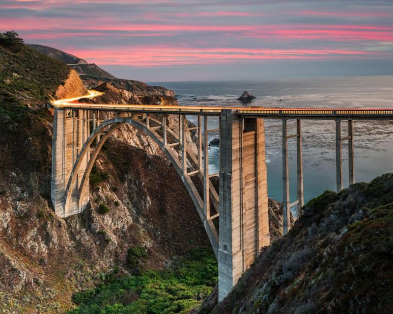 The Bixby Bridge on Highway 1, Big Sur serves as an iconic fixture in the show's opening credits. Photo: Getty