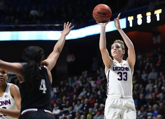 Katie Lou Samuelson and UConn ran roughshod over Cincinnati on Monday. (AP)