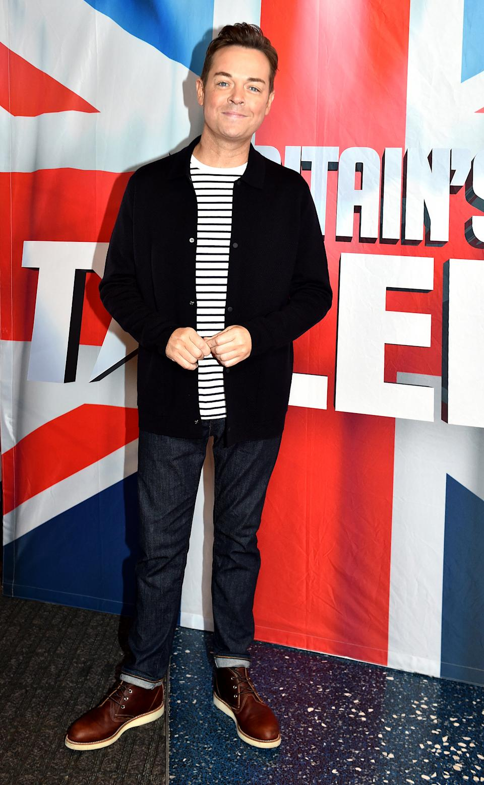 Stephen Mulhern during the 'Britain's Got Talent' Manchester photocall at The Lowry on February 06, 2019 in Manchester, England. (Photo by Shirlaine Forrest/Getty Images)