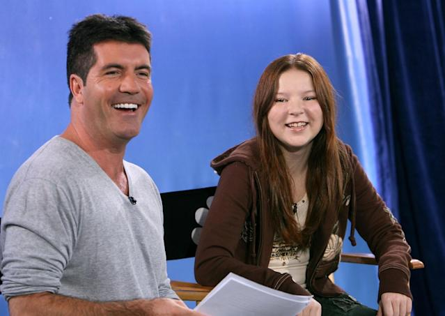 Simon Cowell and Bianca Ryan in 2006. (Photo: Michael Buckner/Getty Images)