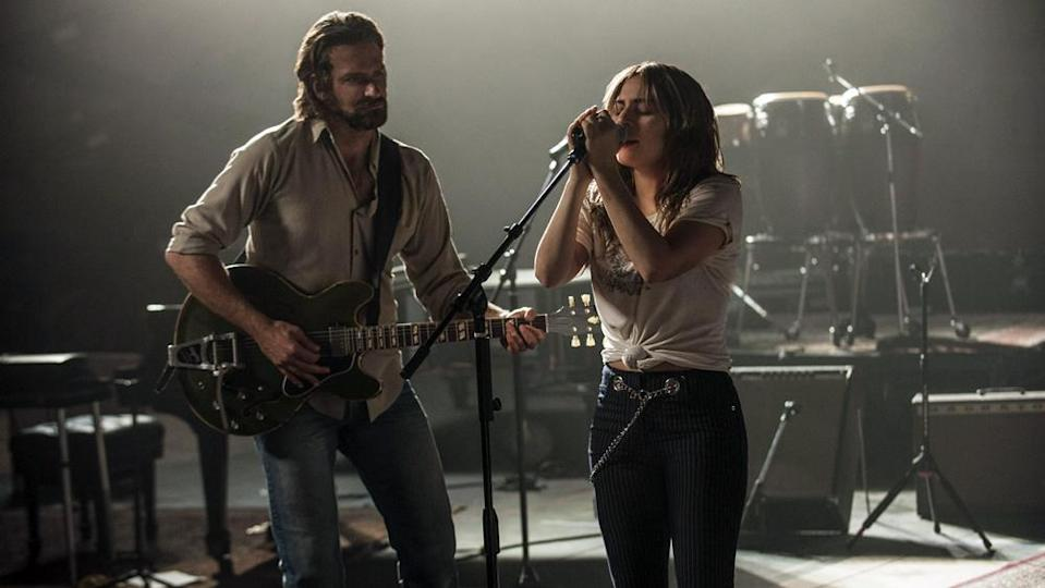 Bradley Cooper and Lady Gaga in <em>A Star Is Born</em>. (Photo: Warner Bros.)