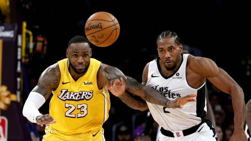 The postponed Lakers-Clippers game has a makeup date. (AP Photo/Ringo H.W. Chiu)