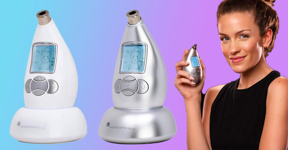 The Microderm Glo Diamond Microdermabrasion Machine and Suction Tool can buff years off of your skin. (Photo: Amazon)