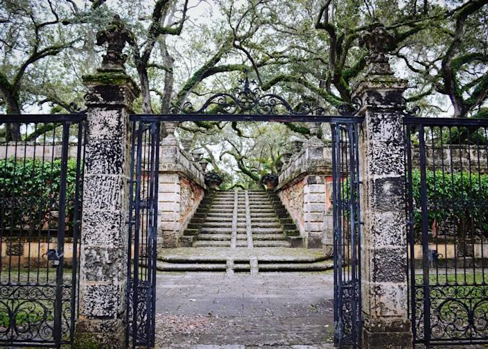 The gardens are open at Vizcaya; the museum is not.