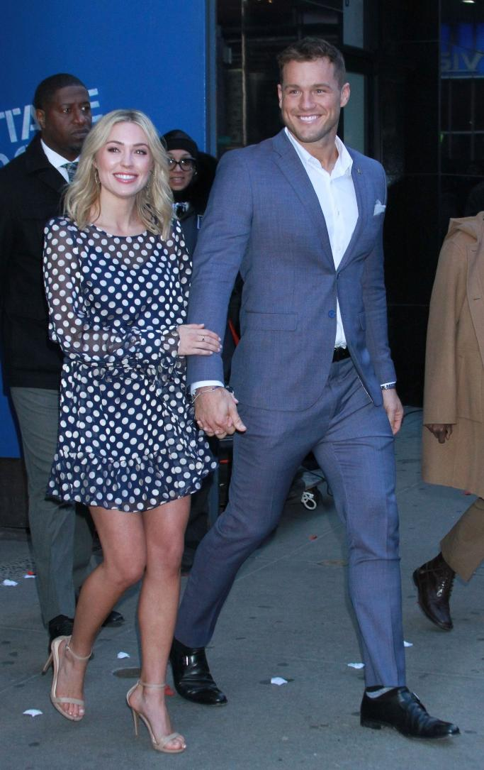 cassie randolph, colton underwood, steve madden stecy sandals