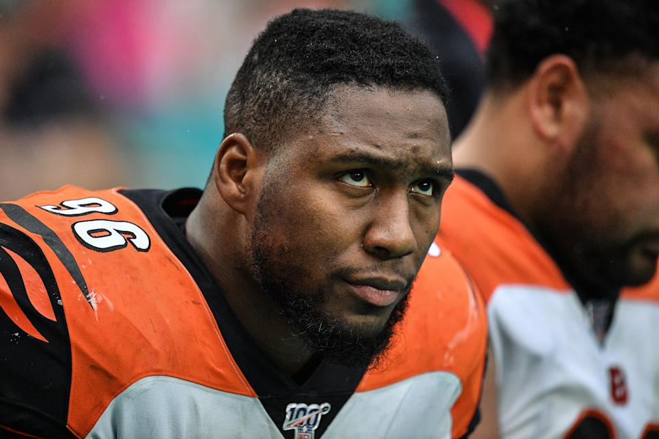 The Bengals and DE Carlos Dunlap appear to be ready to move on from each other. (Photo by Mark Brown/Getty Images)