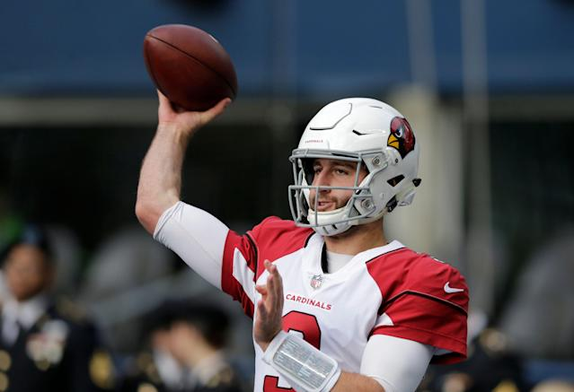 Arizona Cardinals quarterback Josh Rosen remains with the team for now (AP Photo)