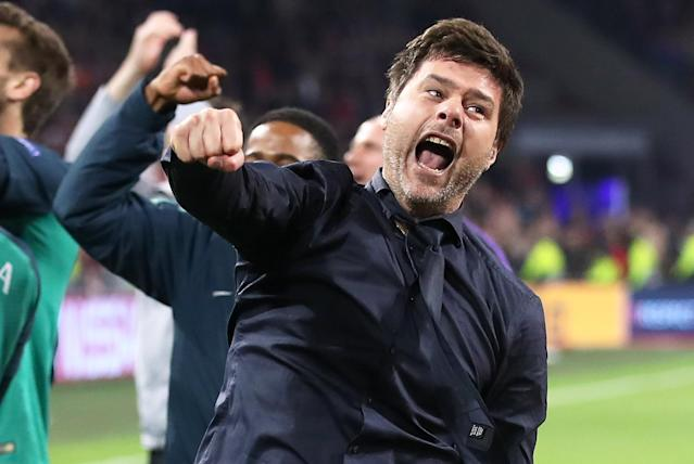 Mauricio Pochettino goes for it after Tottenham's win