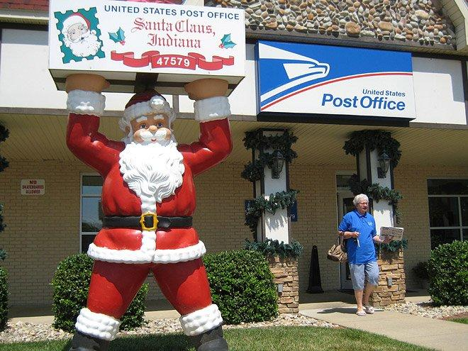 It's all in the name! Here, Santa runs rampant with businesses like Santa's Candy Castle, Santa's Stables and the Santa Claus Christmas Store. Each year thousands of Christmas card writers divert their mail through this locale's post office so it can receive the Santa Claus seal of approval. Local residents get in on the fun by taking turns answering the letters addressed to the big man himself.