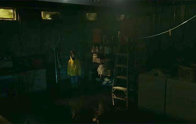 Bill sees his brother in the basement after his disappearance. Source: Warner Bros