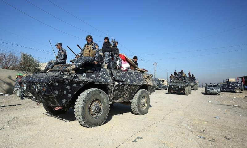 Iraqi security forces have recaptured the eastern side of Mosul and are making inroads into the more densely populated west