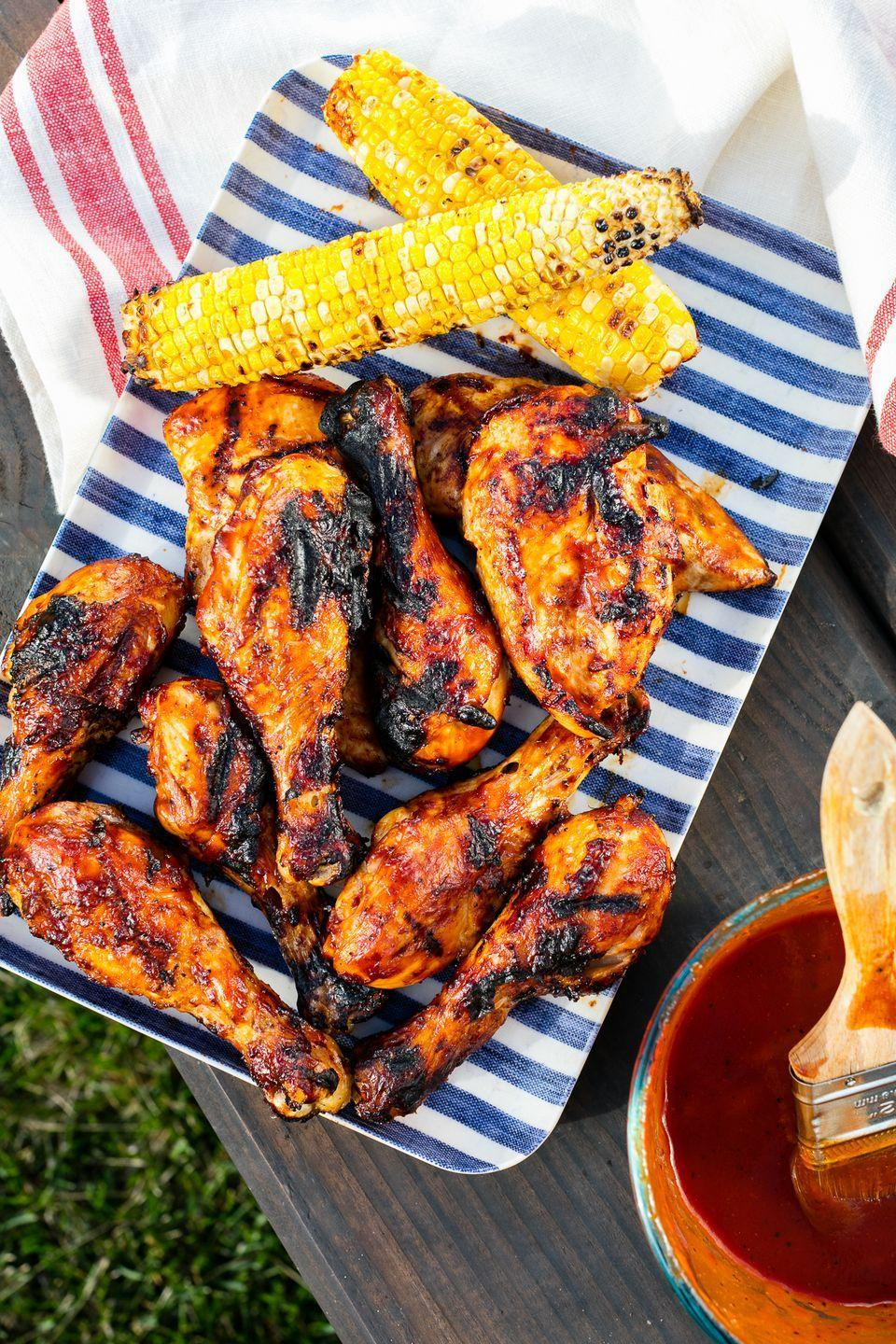 """<p>This cookout classic is a serious crowd-pleaser.</p><p>Get the recipe from <a href=""""https://www.delish.com/cooking/recipe-ideas/recipes/a47360/bbq-grilled-chicken-recipe/"""" rel=""""nofollow noopener"""" target=""""_blank"""" data-ylk=""""slk:Delish"""" class=""""link rapid-noclick-resp"""">Delish</a>.</p>"""