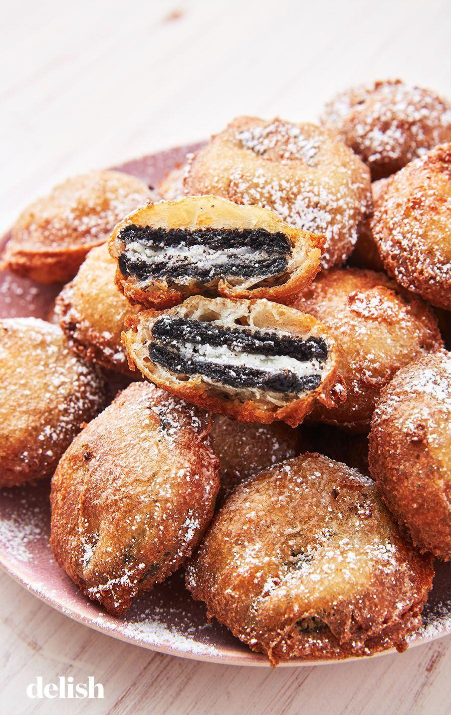 "<p>This carnival favorite will be the star of your Halloween party.</p><p>Get the recipe from <a href=""https://www.delish.com/cooking/recipe-ideas/a27572812/best-deep-fried-oreos-recipe/"" rel=""nofollow noopener"" target=""_blank"" data-ylk=""slk:Delish"" class=""link rapid-noclick-resp"">Delish</a>.</p>"
