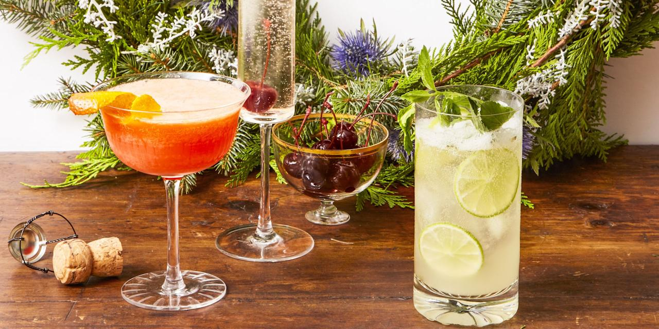 """<p>No holiday celebration is complete without a signature drink <em>and </em>a <a rel=""""nofollow"""" href=""""http://www.goodhousekeeping.com/holidays/christmas-ideas/g745/christmas-desserts/"""">slice of cake</a>. From candy cane cocktails to spiked hot chocolate, this menu of options is our gift to you. Cheers! </p>"""