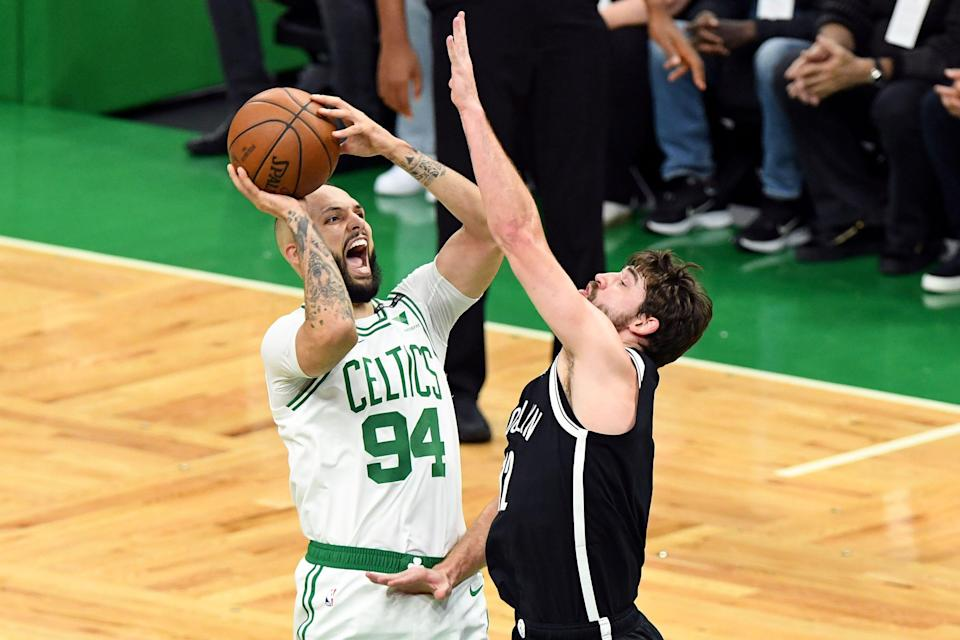 The Celtics could bring back guard Evan Fournier (94), who they acquired at the 2021 trade deadline.