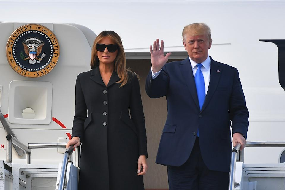 The reason why Melania Trump wear sunglasses so often may have been revealed [Photo: Getty]