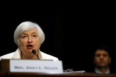 Yellen testifies before the Senate Banking Committee at Capitol Hill in Washington