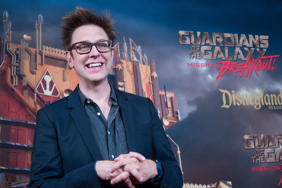 ANAHEIM, CA - MAY 25, 2017: In this handout photo provided by Disney Resorts, director James Gunn attends the grand opening of Guardians of The Galaxy - Mission: BREAKOUT! attraction on May 25, 2017 at Disneys California Adventure in Disneyland in Anaheim, California. (Photo by Richard Harbaugh/Disneyland Resort via Getty Images)