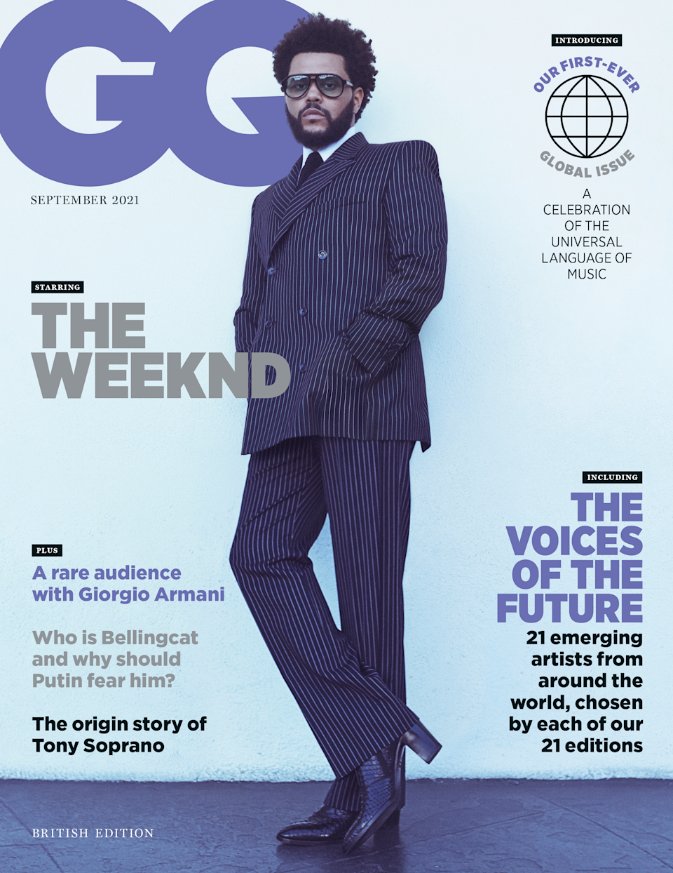 The Weeknd is the cover star for the September issue of British GQ (Daniel Jackson).