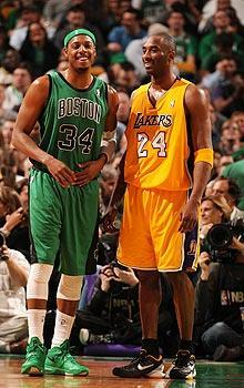 Paul Pierce and Kobe Bryant have stayed with their respective franchises for the duration of their NBA careers