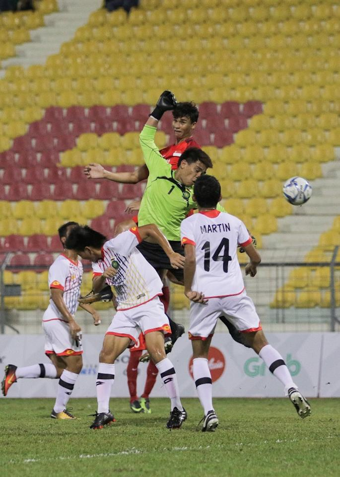 <p>Singapore's Young Lions beat Brunei 1-0 in both sides' final SEA Games match played at the Selayang Stadium on Wednesday (23 August) night. (PHOTO: Fadza Ishak for Yahoo News Singapore) </p>