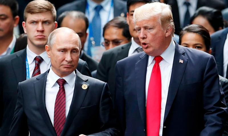 Donald Trump with Vladimir Putin last year. Will Mueller be able to find conclusive evidence of collusion?
