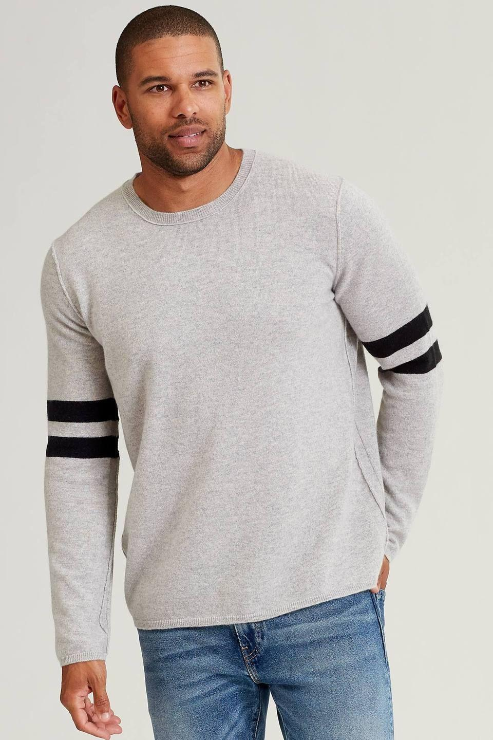 """<p><strong>Naked Cashmere</strong></p><p>nakedcashmere.com</p><p><strong>$195.00</strong></p><p><a href=""""https://go.redirectingat.com?id=74968X1596630&url=https%3A%2F%2Fwww.nakedcashmere.com%2Fproducts%2Fdavid&sref=https%3A%2F%2Fwww.cosmopolitan.com%2Fstyle-beauty%2Ffashion%2Fg27349308%2Fnew-dad-gift-ideas%2F"""" rel=""""nofollow noopener"""" target=""""_blank"""" data-ylk=""""slk:Shop Now"""" class=""""link rapid-noclick-resp"""">Shop Now</a></p><p>He'll be the coziest and most stylish dad around wearing his new cashmere sweater. </p>"""