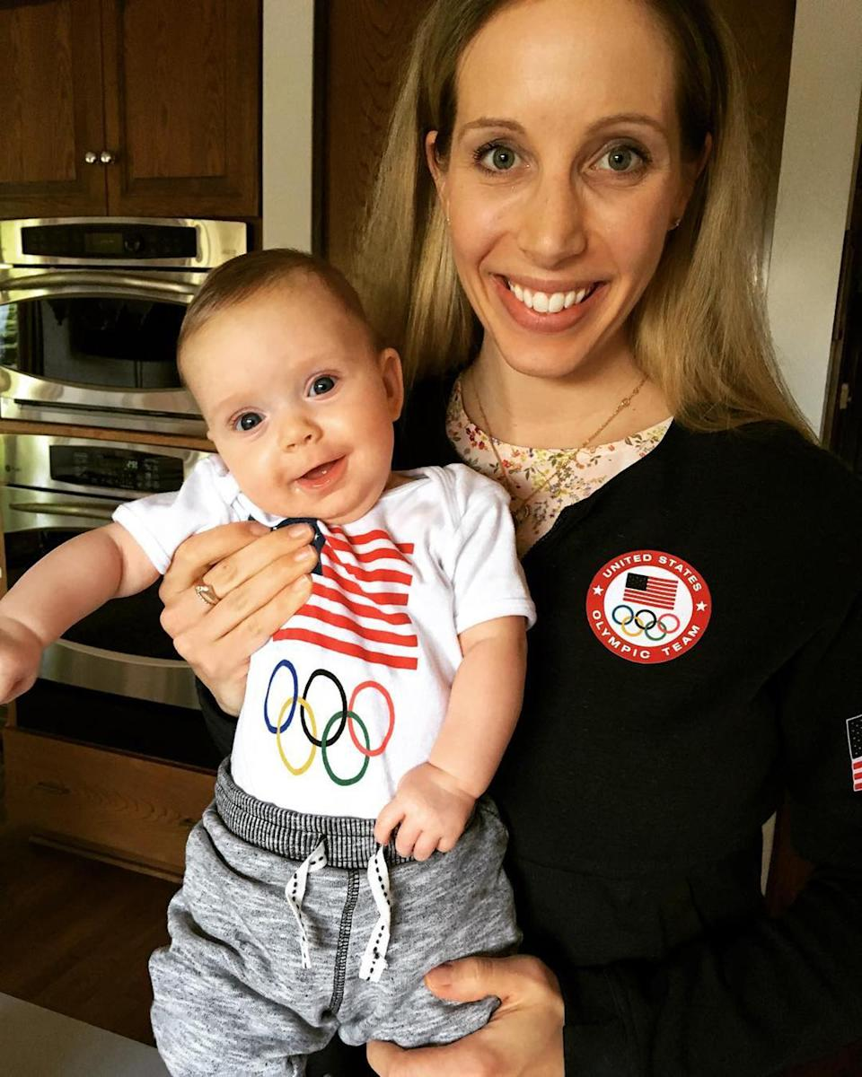 """<p>Zagunis — who with four Olympic medals is the most decorated fencer in U.S. history — will make her fifth Olympic appearance in Tokyo this summer. It will also be her first as a mom — the famous sabre fencer welcomed her first child, daughter Sunday Noelle, with husband Mike Swehla in October 2017. </p> <p>While training for Tokyo, Zagunis told <a href=""""https://www.usafencing.org/news_article/show/910277"""" rel=""""nofollow noopener"""" target=""""_blank"""" data-ylk=""""slk:USA Fencing"""" class=""""link rapid-noclick-resp"""">USA Fencing</a> that welcoming her daughter has given her new motivation.</p> <p>""""I'm really excited to go to my next Olympics with her to show that anything is possible. If you put your mind to it, you can make your dreams come true. It would be a really awesome experience to have with her and our entire family and to be able to tell her someday that I went to all these Olympics and then had her and we did it together.""""</p> <p>Families of Olympic athletes are <a href=""""https://people.com/sports/tokyo-olympics-not-allowing-overseas-spectators/"""" rel=""""nofollow noopener"""" target=""""_blank"""" data-ylk=""""slk:not currently permitted to travel to Japan"""" class=""""link rapid-noclick-resp"""">not currently permitted to travel to Japan</a> due to the ongoing COVID-19 pandemic restrictions, though <a href=""""https://people.com/parents/tokyo-olympics-athletes-now-can-bring-kids-to-breastfeed-quarantine/"""" rel=""""nofollow noopener"""" target=""""_blank"""" data-ylk=""""slk:nursing children will be allowed"""" class=""""link rapid-noclick-resp"""">nursing children will be allowed</a> to accompany their athlete mothers. </p>"""
