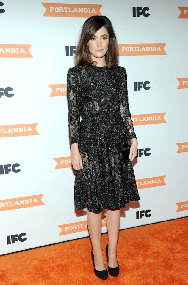 Actress Rose Byrne attends the season 3 premiere event of IFC's Portlandia, Monday, Dec. 10, 2012, at the American Museum of Natural History in New York. The new season premieres on IFC on Jan. 4 at 10pm ET/PT. (Diane Bondareff/Invision for IFC/AP Images)