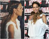 """<p>Can we take some time out of the day to admire the beauty of Halle Berry? While promoting her upcoming flick """"Kidnap"""" the 50-year-old actress showcased her new 'do — middle-part goddess braids pierced with gold hoop earrings on each side, followed by loose tousled ponytails. Berry's stylist Castillo Bataille shared a photo of the sexy pierced style to Instagram and her fans can't get enough!<br>Are you a fan? Will you be trying the hair-piercing trend?<br>(Photos: Getty/Instagram/July 24, 2017) </p>"""