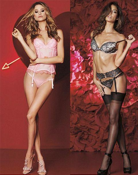 The Angels pose up a storm for the new Valentines Day collection Photo: VictoriasSecret.com