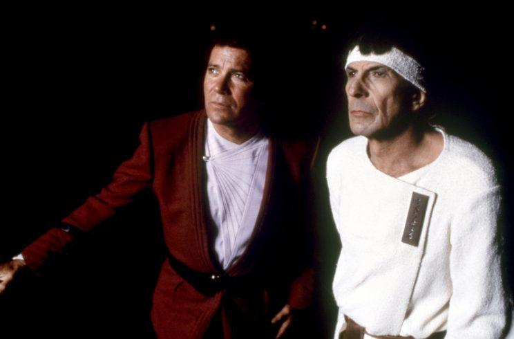William Shatner and Leonard Nimoy in 'Star Trek IV: The Voyage Home,' 1986. (Photo: Paramount/ Everett Collection)