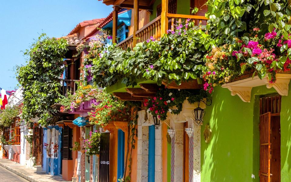 The tour travels through colourful Cartagena - Getty