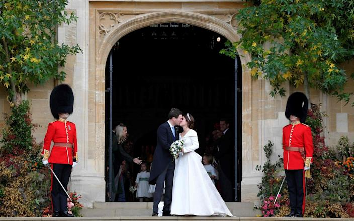 Prince Eugenie and Jack Brooksbank were married at St George's Chapel in 2018