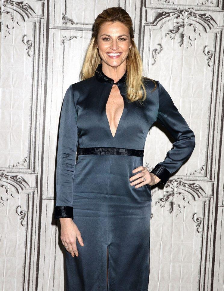 Erin Andrews attends Build Presents at AOL in January. (Photo: Laura Cavanaugh/FilmMagic)