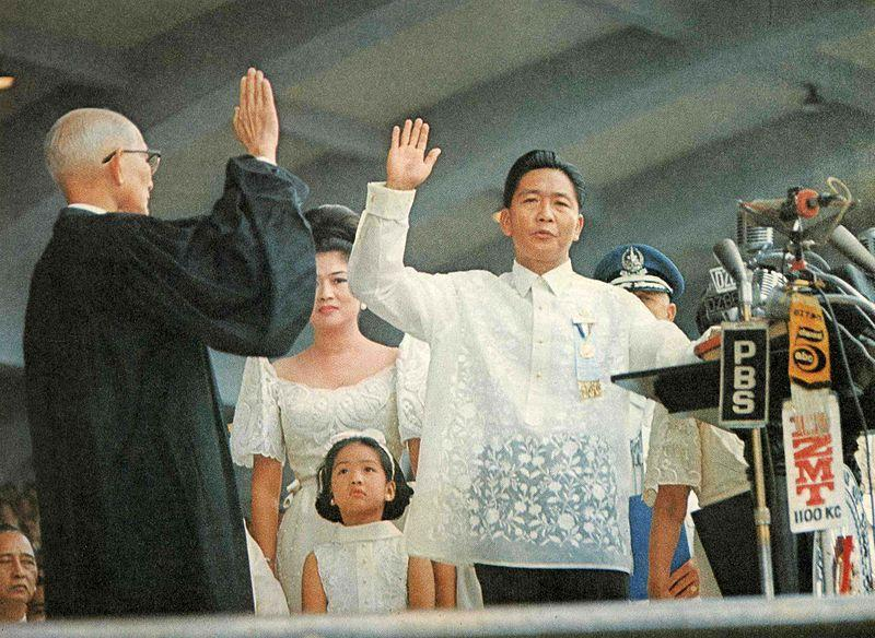 President Ferdinand Marcos in his second inauguration on Dec. 30, 1969. (Photo: Philippine Presidential Museum and Library via Wikimedia Commons)