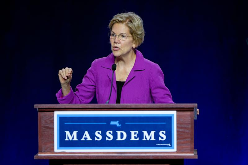 Sen. Elizabeth Warren of Massachusetts, a Democratic presidential hopeful, nabbed the big endorsement ahead of a campaign rally in New York City on Monday. (Photo: Preston Ehrler/SOPA Images/LightRocket/Getty Images)