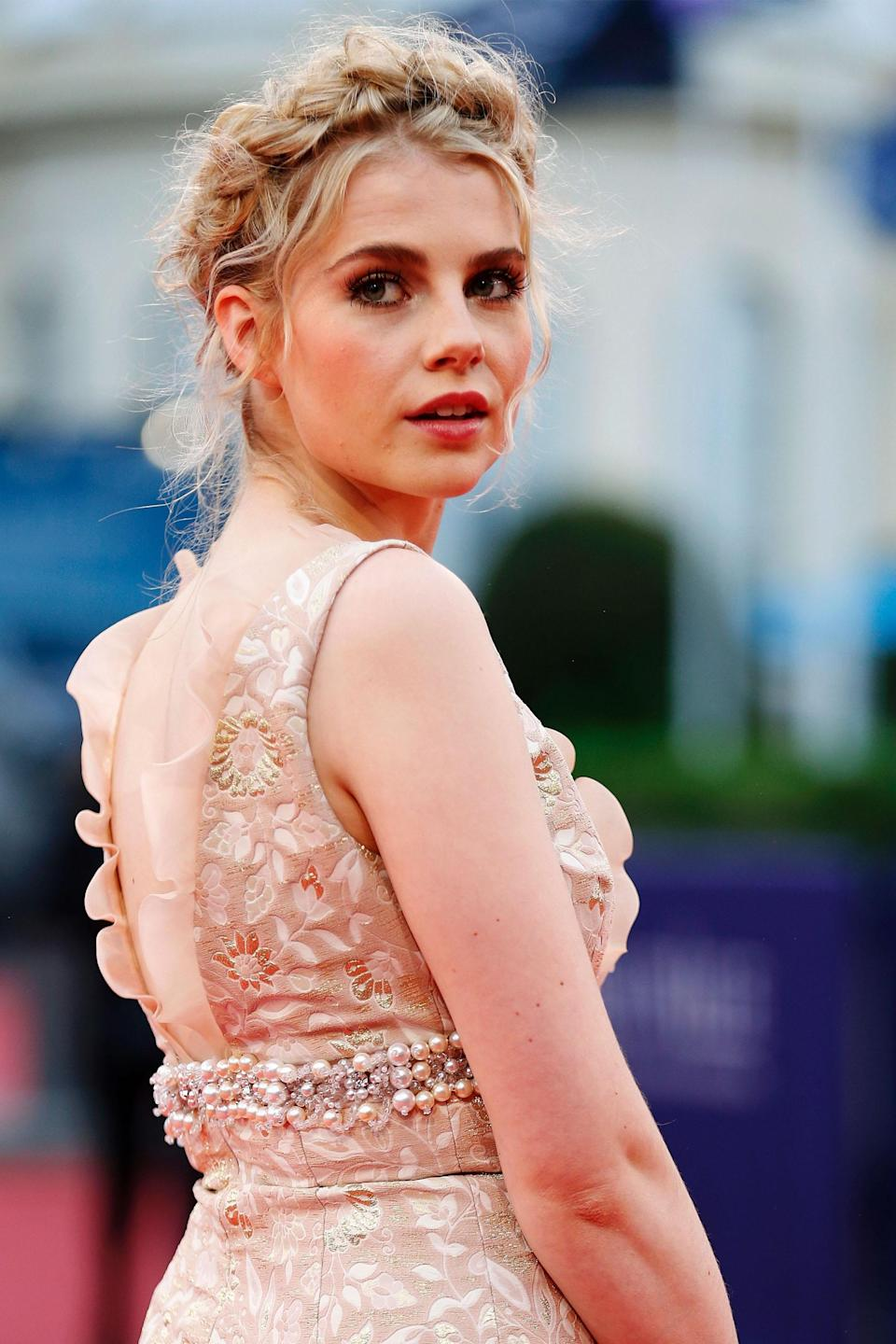 "<h3>Lucy Boynton</h3> <br>While visiting Deauville, Boyton was the picture of Parisian romance with a boho milkmaid braid and a peach gown.<span class=""copyright"">Photo: CHARLY TRIBALLEAU/AFP/Getty Images. </span><br>"