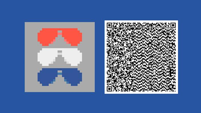 Animal Crossing: New Horizons QR code for Biden-Harris campaign
