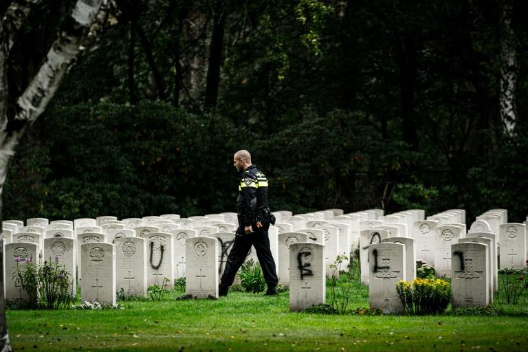 Letters were painted on over 600 graves