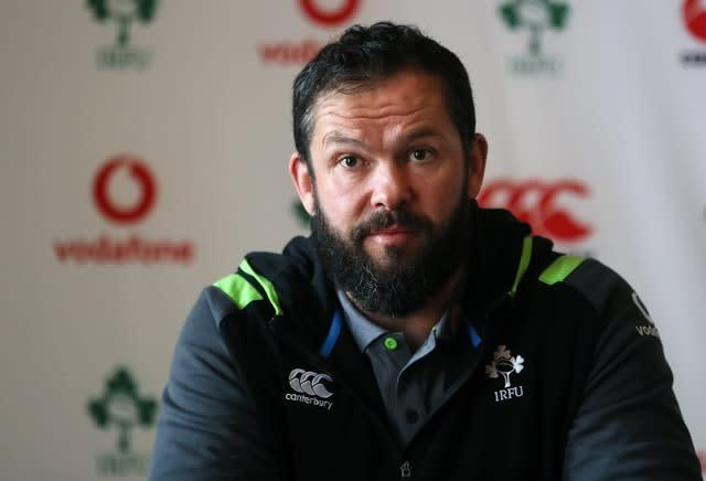 Andy Farrell has taken over as Ireland head coach (Brian Lawless/PA)