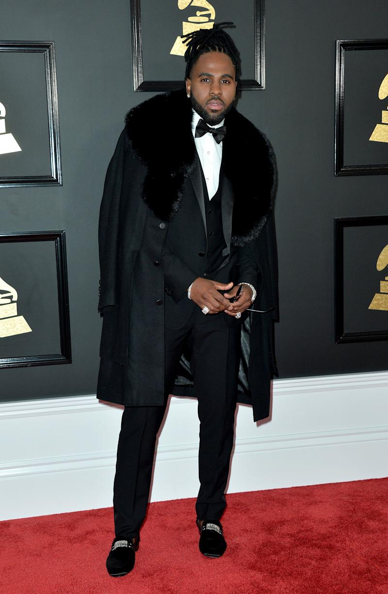 Jason Derulo attends the 59th GRAMMY Awards at STAPLES Center on February 12, 2017 in Los Angeles, CA, USA.