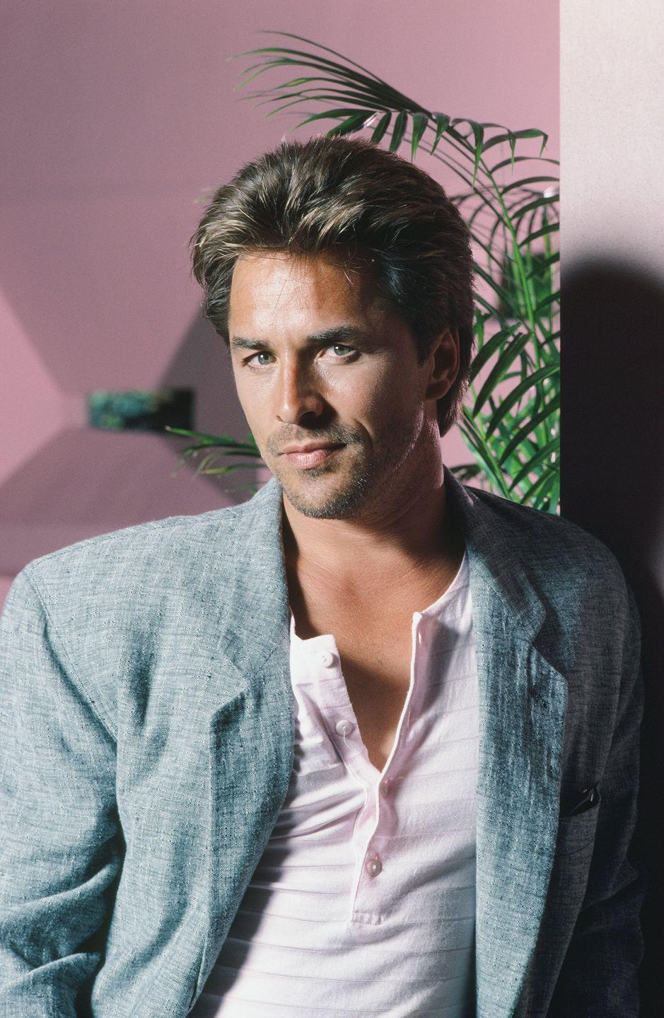 "<p>Not only did Don Johnson make great eye candy while playing James ""Sonny"" Crockett on <em>Miami Vice</em>, he was also nominated for a Golden Globe for his portrayal.</p>"
