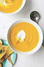 "<p>It only takes 30 minutes to serve up this pureed <a href=""https://www.goodhousekeeping.com/food-recipes/healthy/g5145/best-vegan-soup-recipes/"" rel=""nofollow noopener"" target=""_blank"" data-ylk=""slk:vegetable soup"" class=""link rapid-noclick-resp"">vegetable soup</a>. </p><p><em><a href=""https://www.countryliving.com/food-drinks/recipes/a32734/gingery-carrot-soup-recipe-122893/"" rel=""nofollow noopener"" target=""_blank"" data-ylk=""slk:Get the recipe from Country Living »"" class=""link rapid-noclick-resp"">Get the recipe from Country Living »</a></em></p>"