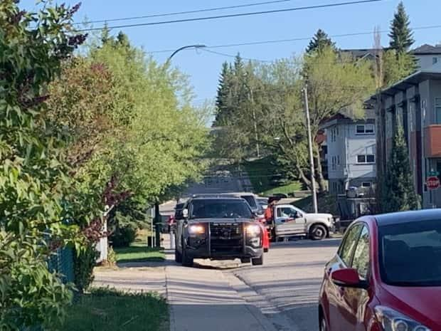 Police respond to a fatal shooting in the neighbourhood of South Calgary on Saturday.
