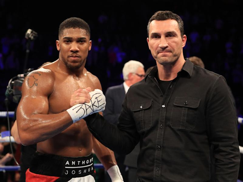 Joshua is currently the favourite with the bookmakers to beat Klitschko: Getty