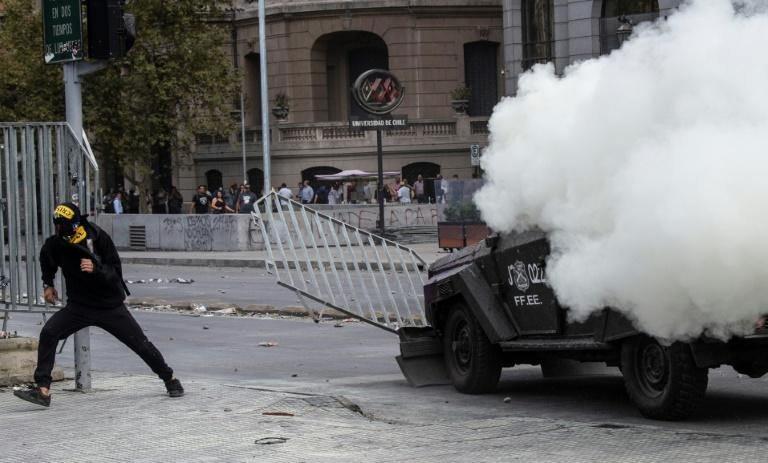 Thirty people have been killed in the protests, many as a result of a heavy-handed police response condemned as repressive by UN investigators (AFP Photo/Martin BERNETTI)